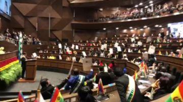 Confrontación entre la oposición y oficialismo empañan el discurso de Arce y actos por el 6 de Agosto