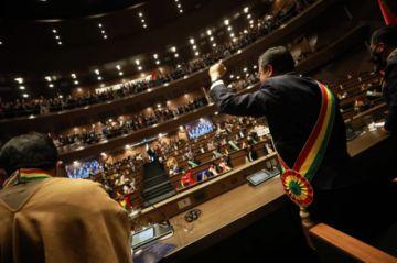 La oposición fustiga el mensaje de Luis Arce en el Legislativo por el aniversario patrio