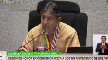 Choquehuanca llama a la reconciliación y sanar heridas con justicia