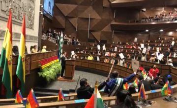 Opositor anuncia contrademanda a diputados del MAS por los gritos en la Sesión de Honor