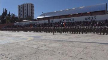 Soldados del Regimiento Pérez juraron fidelidad a la bandera boliviana