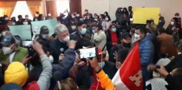 Así se interrumpió el informe del GIEI en Potosí