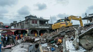 Parte misión humanitaria argentina a Haití por sismo