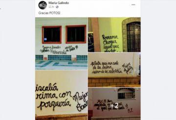 María Galindo se ufana por el daño causado a edificios patrimoniales