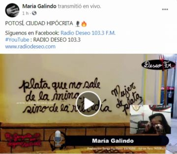 María Galindo reacciona a críticas a pintadas insultando a Potosí