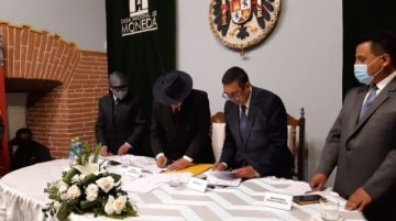 La Casa de Moneda y la universidad Tomás Frías firman convenio de cooperación