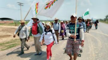 Iglesia Católica pide a las autoridades atender el clamor de pueblos indígenas que marchan en defensa de territorios