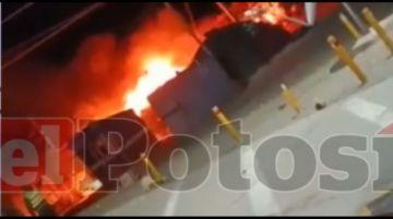Reportan que domos de la aduana en Villazón fueron quemados