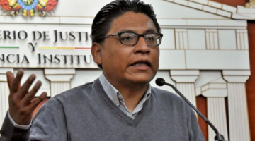 Ministro Lima dice que hija de Áñez acude a organismos afines a su posición ideológica