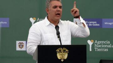 Iván Duque, en contra de que se relajen las sanciones contra Venezuela