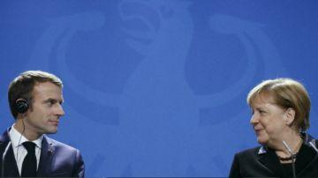 Macron recibe a Merkel antes de las elecciones en Alemania