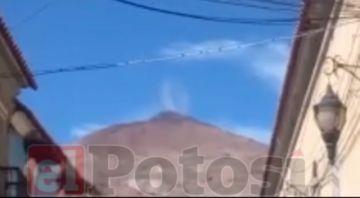 Registran nuevo hundimiento enla punta del Cerro Rico de Potosí