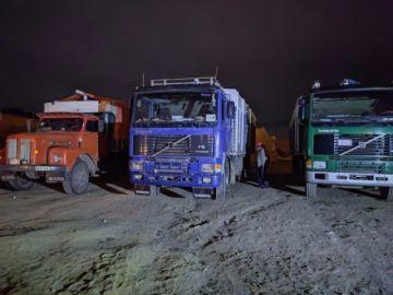 En dos operativos en La Paz, incautan cuatro camiones con productos agrícolas de contrabando