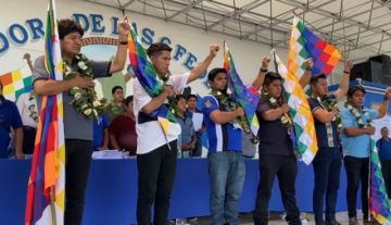 Evo Morales y Andrónico Rodríguez son ratificados como presidente y vicepresidente de las federaciones del Trópico