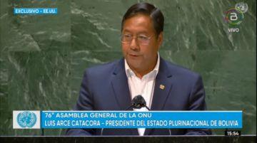 El presidente Luis Arce habla en la 76º Asamblea General de la ONU