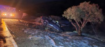 Granizo ocasiona un accidente de tránsito en Potosí
