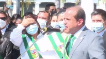 Gobernador Camacho no da la palabra a Choquehuanca y exigió al Gobierno parar las persecuciones