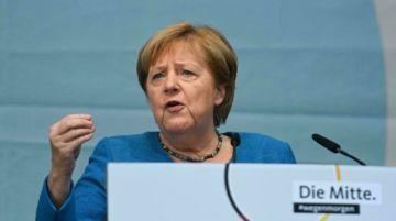 """Merkel pide en su último mitin votar por Laschet por """"el futuro"""" de Alemania"""