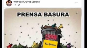 """Procurador del Estado comparte imagen que dice: """"Prensa basura. ¡No los veas!"""""""