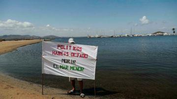"""Ecologistas denuncian a España ante la Comisión Europea por el """"colapso"""" del Mar Menor"""