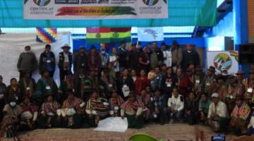Indígenas de tierras altas y bajas de Bolivia se unen para consolidar la defensa de sus territorios y áreas protegidas