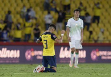 Ecuador golea 3-0 a Bolivia en clasificatoria sudamericana hacia Qatar-2022