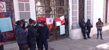 La alcaldía de Potosí cerró sus puertas por el paro cívico