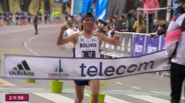¡Histórico! El boliviano Héctor Garibay conquista la maratón de Buenos Aires