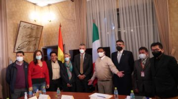 Italia ratifica predisposición de cooperar a Potosí