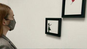 """Díptico de la """"Niña con globo"""" de Banksy subastado por 4,3 millones de dólares"""