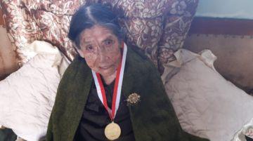 La matriarca centenaria de Potosí es doña Georgia Porco Gutiérrez