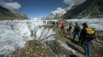 Los glaciares suizos se reducen pese a las nevadas y a un verano frío
