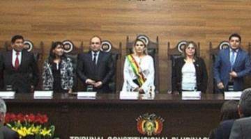 Reporte ANF: El TCP reconoció en un recurso la acreditación de Añez como presidenta constitucional