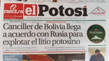 Gobierno desmiente acuerdos con Rusia para explotación del litio