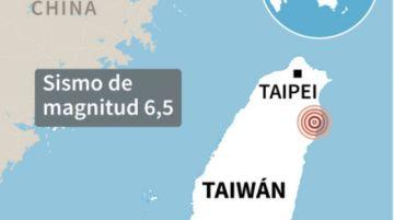 Un sismo de magnitud 6,5 sacude el nordeste de Taiwán