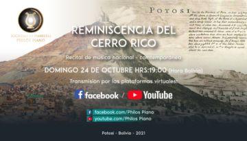 Sociedad de pianistas Philos dará concierto en homenaje al Cerro Rico