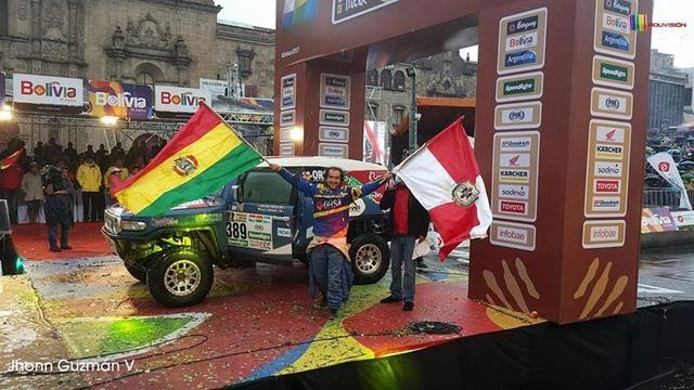 La bandera potosina flamea en el rali Dakar 2017