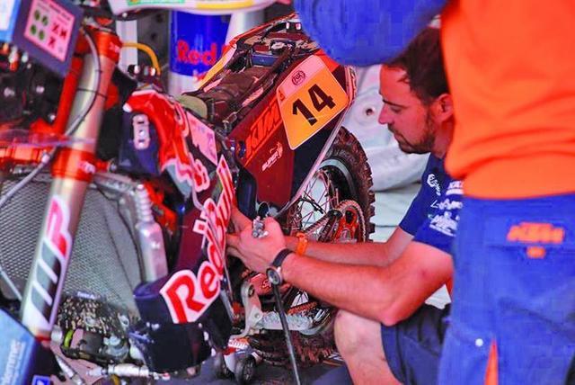 Peredo está cumpliendo en su primer Dakar