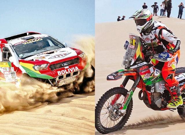 Nosiglia y Bulacia son los mejores bolivianos en el ranking del Dakar