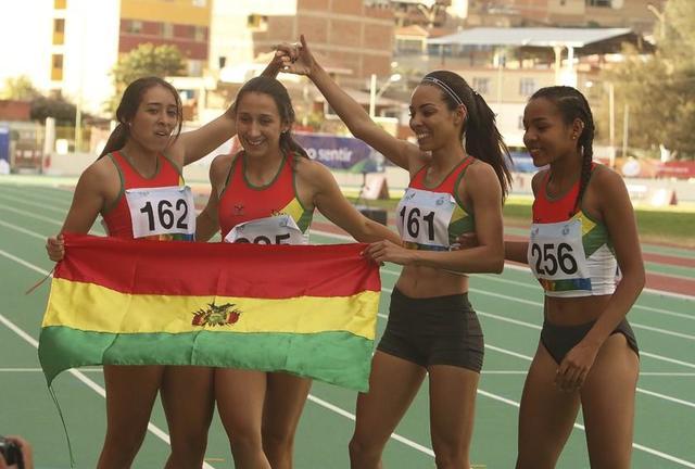 Bolivia logra dos medallas de plata en lanzamiento de bala y relevos