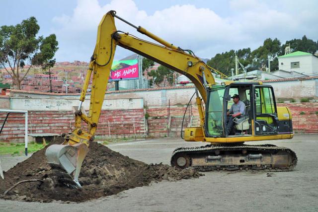 """Inician las obras de mejora en el estadio """"Potosí"""""""