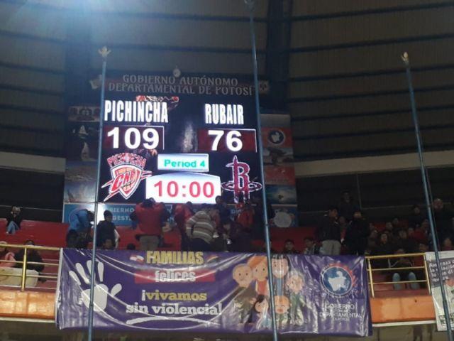 Pichincha derrotó a Rubair pasando del centenario