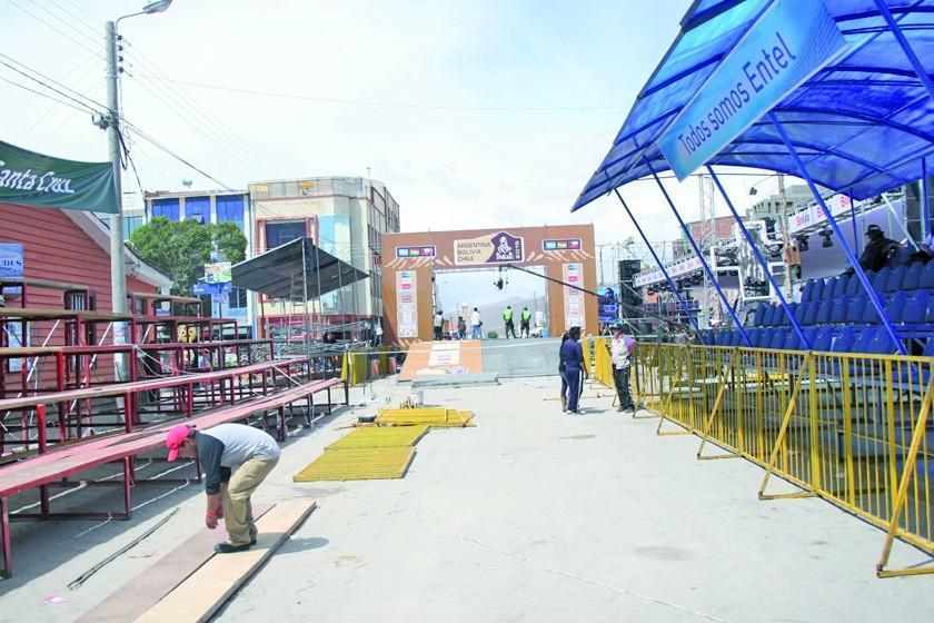 """El podio en La Paz estará ubicado en el """"Siles"""""""