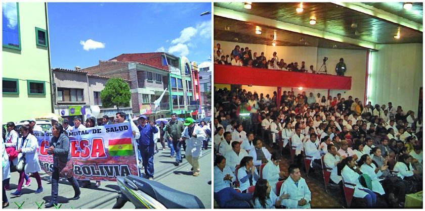 Médicos en Potosí se divididen por el conflicto nacional de salud