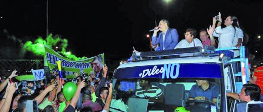 Correa lidera la campaña para  mantener reelección en Ecuador