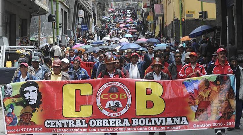 COB determina paro nacional para el próximo 1 de febrero
