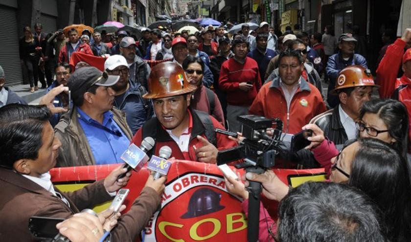 COB expresa su pleno respaldo a Guido Mitma e instruye acatar el paro