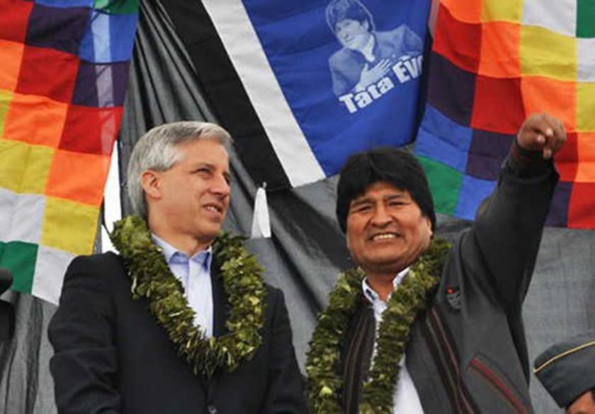 Evo: García es insustituible en la revolución democrática