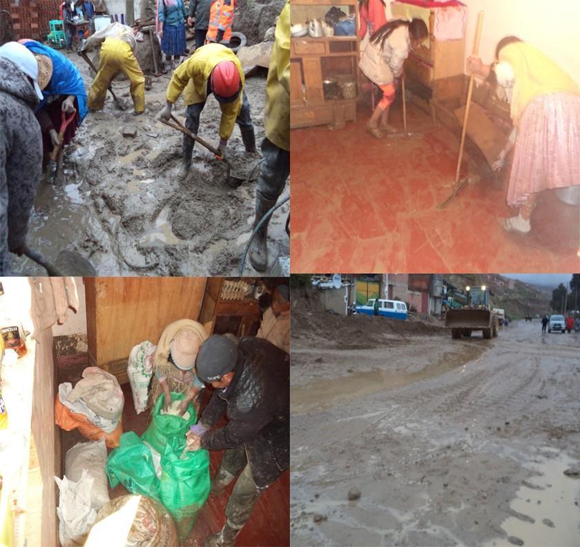 Río: mazamorra de lodo inunda casa y carretera