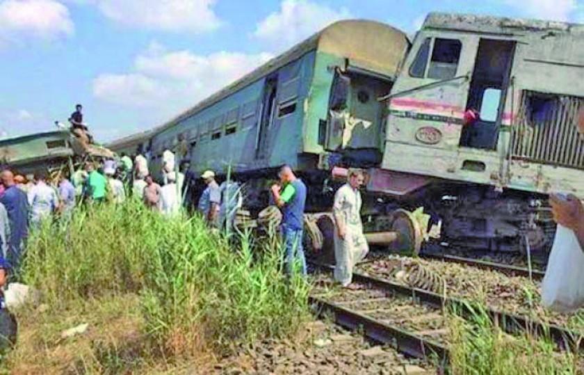 Accidente de tren en Egipto deja 12 personas muertas